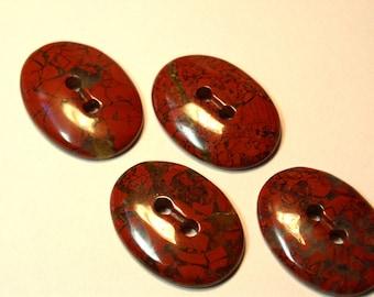 Unique Red Jasper Oval Gemstone Button (1)