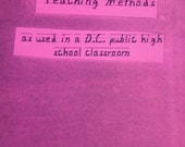 Alternative Teaching Methods zine