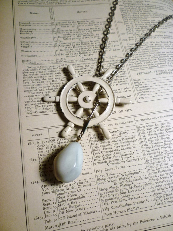 Ahoy Mate Convertible Nautical Necklace and Pin
