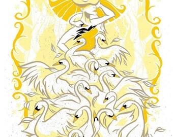 Original Screen Print - The Swan Dress