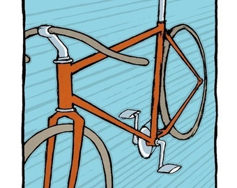 Scorcher Bike Art Print
