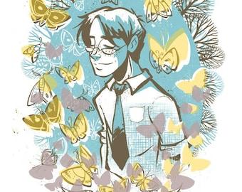The Moths - Original Screen Print