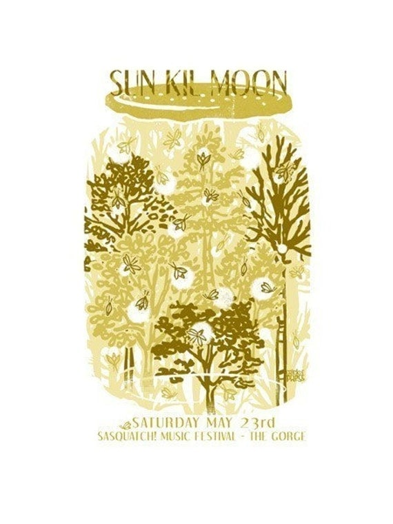 Sun Kil Moon - screenprinted gigposter
