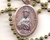 Road Rage, Our Lady of LaSalette Patron Saint Medal on Ball Chain