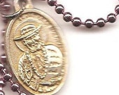 Lepers and Other Outcasts, St. Damien Patron Saint Medal Necklace on Ball Chain