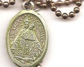 Mothers to Be and Lightening, Our lady of Olives Patron Saint Necklace on Copper Colored Ball Chain