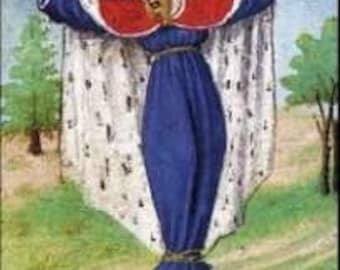 Bearded Ladies, St. Wilgefortis Patron Saint on Glass Pendant