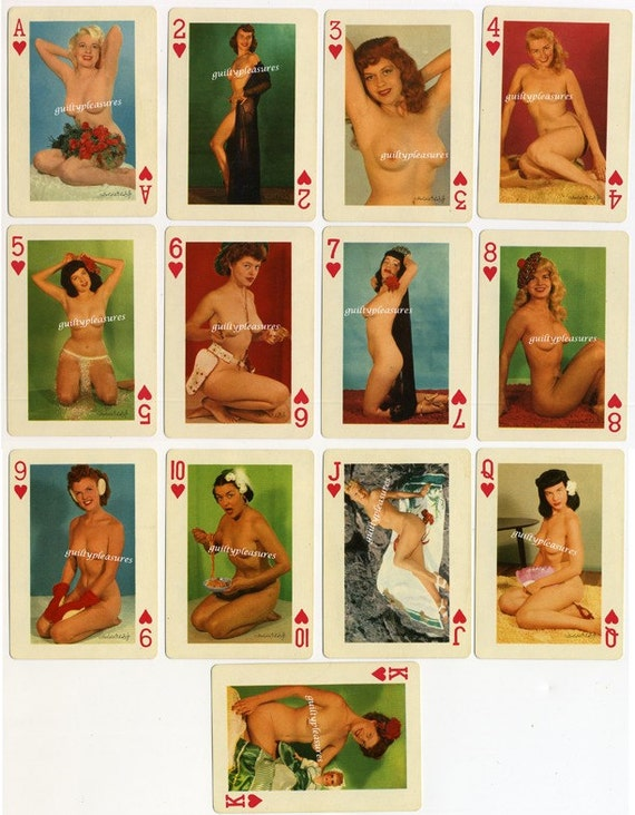 Vintage 1940s Nudes From Around the World Playing Card Image File Sheet no.3