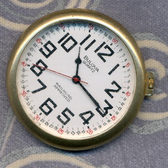 Vintage Bulova Railroad Pocket Watch