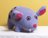 Plush Purple Pig