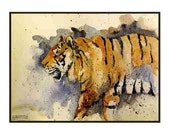 Watercolor Tiger Notecards Note cards, Tiger Art, Tiger Prints, Cat Lovers, Stocking Stuffers