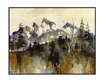 6 Sunrise Park Mount Rainier Watercolor Notecards Note cards, Washington State Cards, Cascade Mountains Cards, National Park Stationery