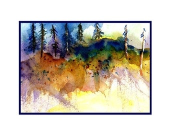 Edge of Woods Note Cards Notecards, Stationery, Tree, Forest print, Gift box, Stocking Stuffer