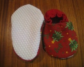 RESERVED FOR WWMIMI Baby Shoes Xmas Red Joy 0 - 6 months