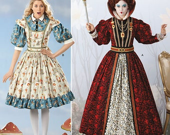 Simplicity Pattern 2325 - Alice in Wonderland and Red Queen - Misses Size 6-12 - Cosplay Costume