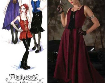 Simplicity Pattern 2757 - Arkivestry - Steampunk Gothic Bodice Dress in 2 Lengths - Misses Size 6-12 - Cosplay Costume