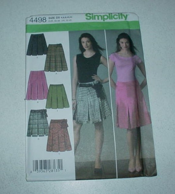 simplicity 4498 pleated skirt pattern misses 4 12 by