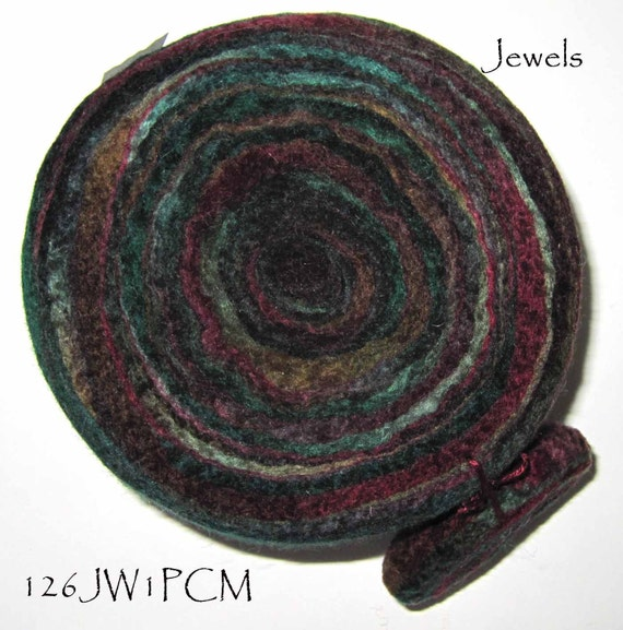 Felted Wool Pincushion - Hand-dyed  -  Jewels  126JW1PCm