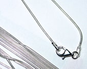Sterling Silver Snake Chain 18in