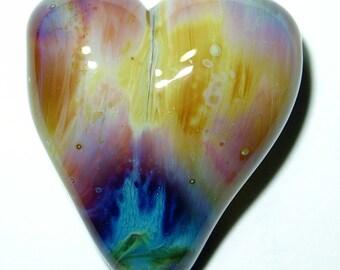 Terra Heart Lampwork Focal Bead