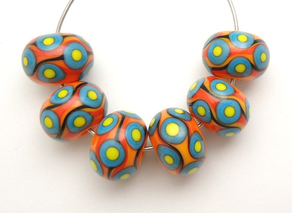Colorful & Bright Handmade Lampwork Glass Beads