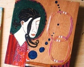 Warmth, The Original Painting on reclaimed wood by Lea Keohane