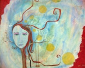 """Goddess of Memory Art """"Reminiscence"""", the original painting by Lea Keohane"""