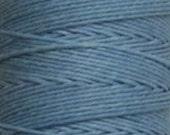 ON SALE - waxed Irish Linen Thread - 4 ply - 100 yard full spool - Robins Egg Blue