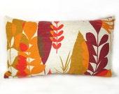 Mod Leaf Vintage Fabric Pillow