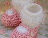 Boutique Crochet Mary Janes Baby Booties