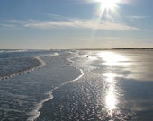 Sparkling sun over the ocean, Avalon New Jersey, photograph