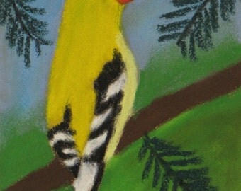 American Goldfinch pastel painting