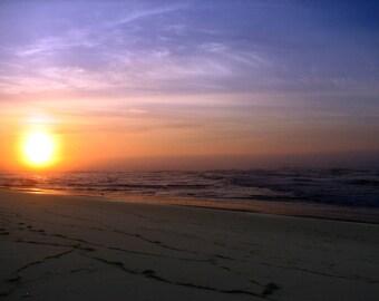 Sunrise over ocean, photograph