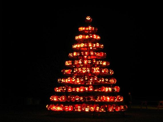 Pumpkin tree lighting festival, photograph