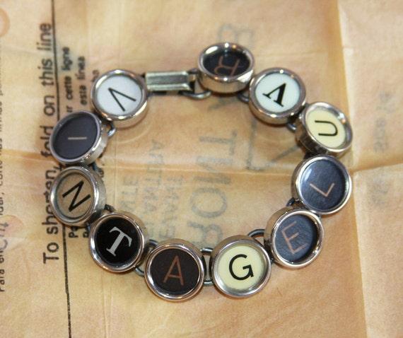 VINTAGE LOVER  Typewriter Key Bracelet