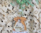 Innocent and Sweet Mixed Media Necklace