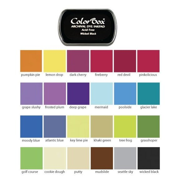 1 Colorbox Archival Ink Pad - Choose One of  24 Beautiful Colors to Compliment your Custom Stamp