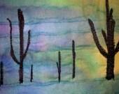 Fabric Postcard - Desert Cactus