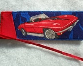 Bookmark - Red Corvette Book with Crazy Quilt on back