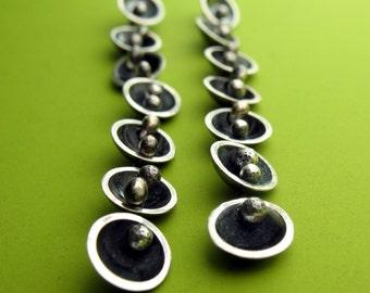 Mini Segmented Saucer Earrings