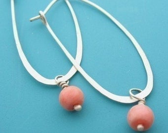 Oval Hoops- Pick your bead drops