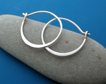 Simple Sterling Hoops