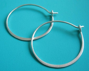 Larger Simple Sterling Hoops