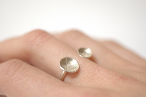 RESERVED- Floating Saucer Ring- Size 5- Ready to Ship