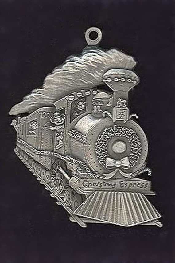 Fine Pewter Train Christmas Ornament