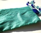 RESERVED for LeenTheGraphicsQueen --- LE BIJOU SEASCAPE - 3-in-1 Glamourous wristlet in seafoam and blue