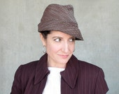 Spring fashion womens fedora hat : Fedorable in chocolate cotton