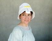 Large brim hat, white cotton sunhat, womens travel hat, beach hat, sun protection, feminine spring hat, ladies summer topper : Moving Image