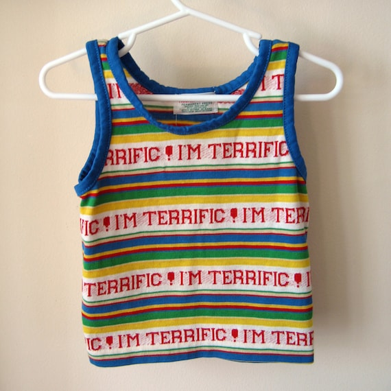 Vintage Health-tex I'm Terrific 2T Children's tank top