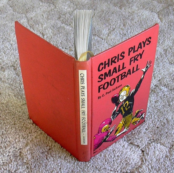 Chris Plays Small Fry Football (Vintage Cover - 1963) - A Blank Hardback Upcycled Sketch Book Journal